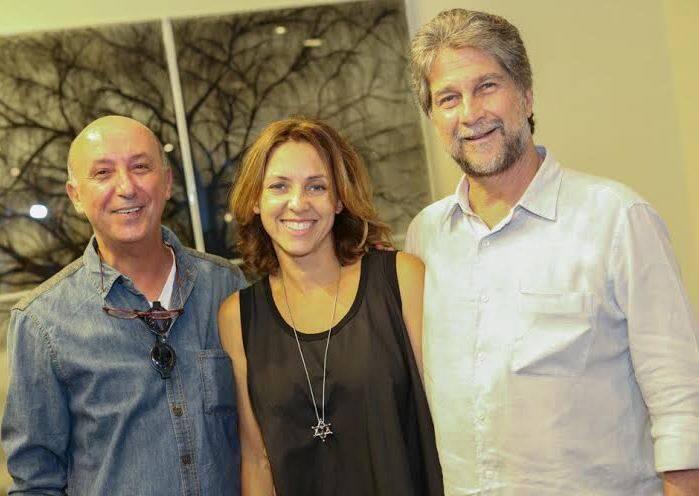 Claudia com Marcio e João