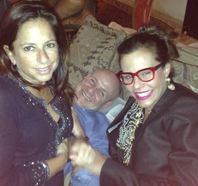 Flavia Tamoyo, Paulo Müller e Narcisa Tamborindeguy: jantar em homenagem à Alice Tamborindeguy
