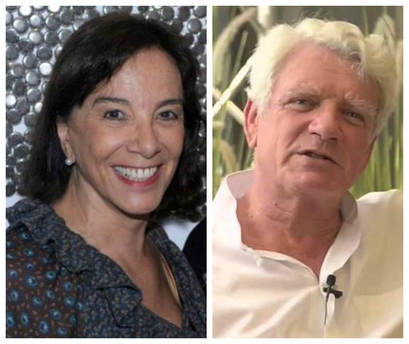 Isabelle de Ségur e o suíço-brasileiro Pierre Landolt: dois empresários ligados ativamente à causa ecológica no país/ Foto: Paulo Jabur e reprodução da internet