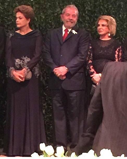 Dilma, Lula e Dona Marisa: casamento do cardiologista Roberto Kalil Filho e da endocrinologista Claudia Cozer / Foto: reprodução Instagram da Rosângela Lyra