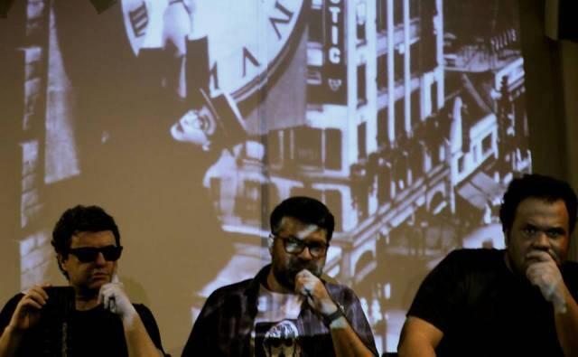 """Os autores de """"O Proscratinador"""", em debate: Haroldo Mourão, Sidney Honigzstejn e Simplício Neto/ Foto: divulgação"""