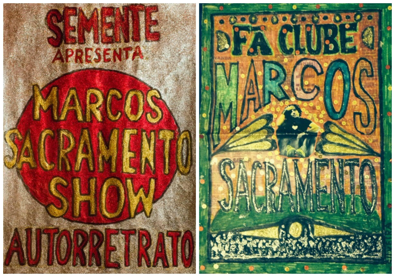 Cartazes artesanais de Luiz Garcia: trabalhos manuais, feitos um a um/ Foto: divulgação
