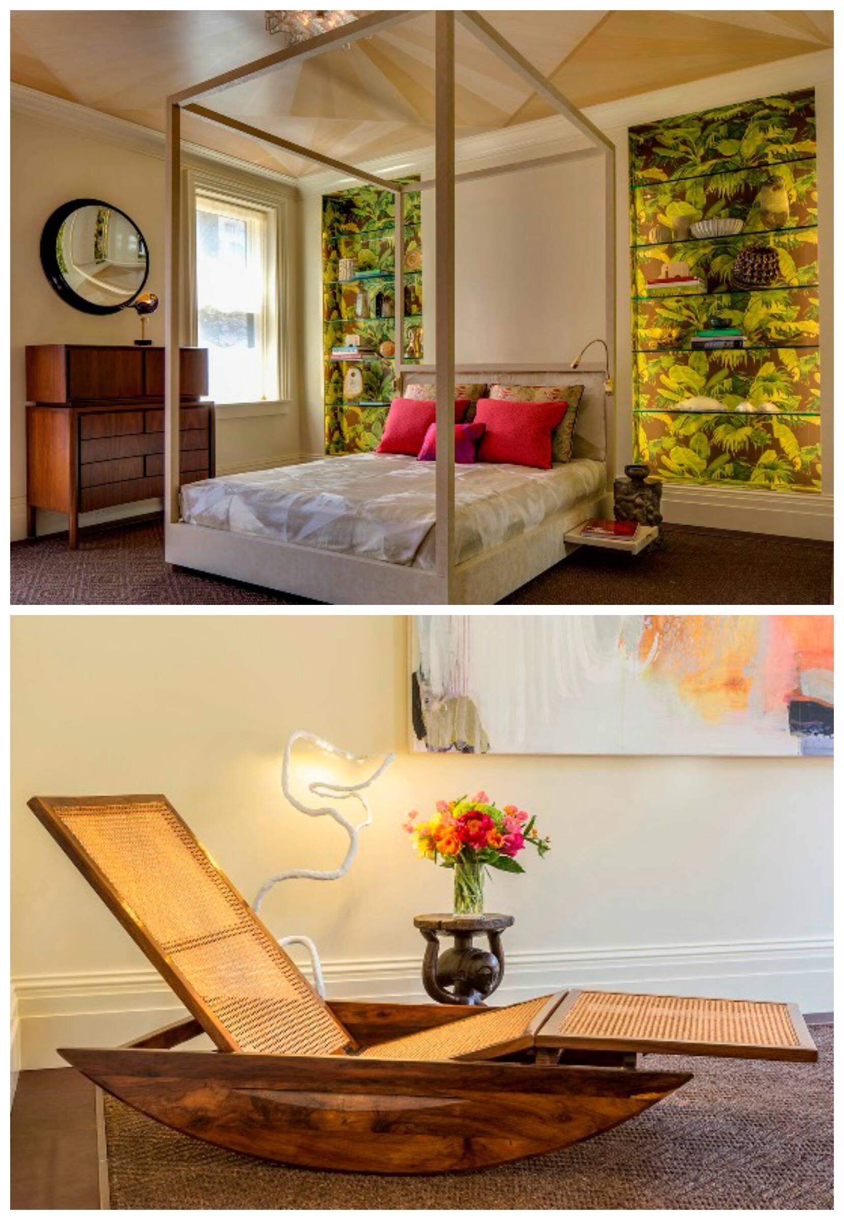 """A decoradora Suzana Monacella, ao alto, e o """"Rio Room"""", ambiente inspirado na cidade carioca/ Fotos: divulgação"""