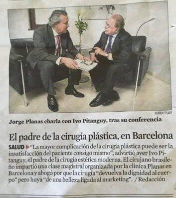 """Pitanguy na Espanha: """"El padre de la cirugía plástica"""", diz jornal / Foto: reprodução"""