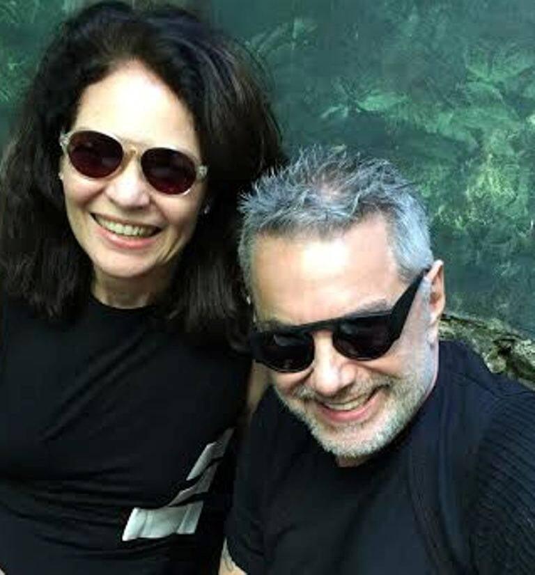 Roberta Damasceno e Lino Villaventura: a empresária e e estilista fizeram parceria - já a partir do próximo verão / Foto: divulgação