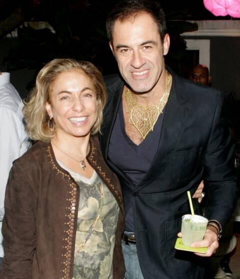Os amigos Cissa Guimarães e Marzio Fiorini: videoclipe vai ser gravado durante festa/ Foto: Ana Colla