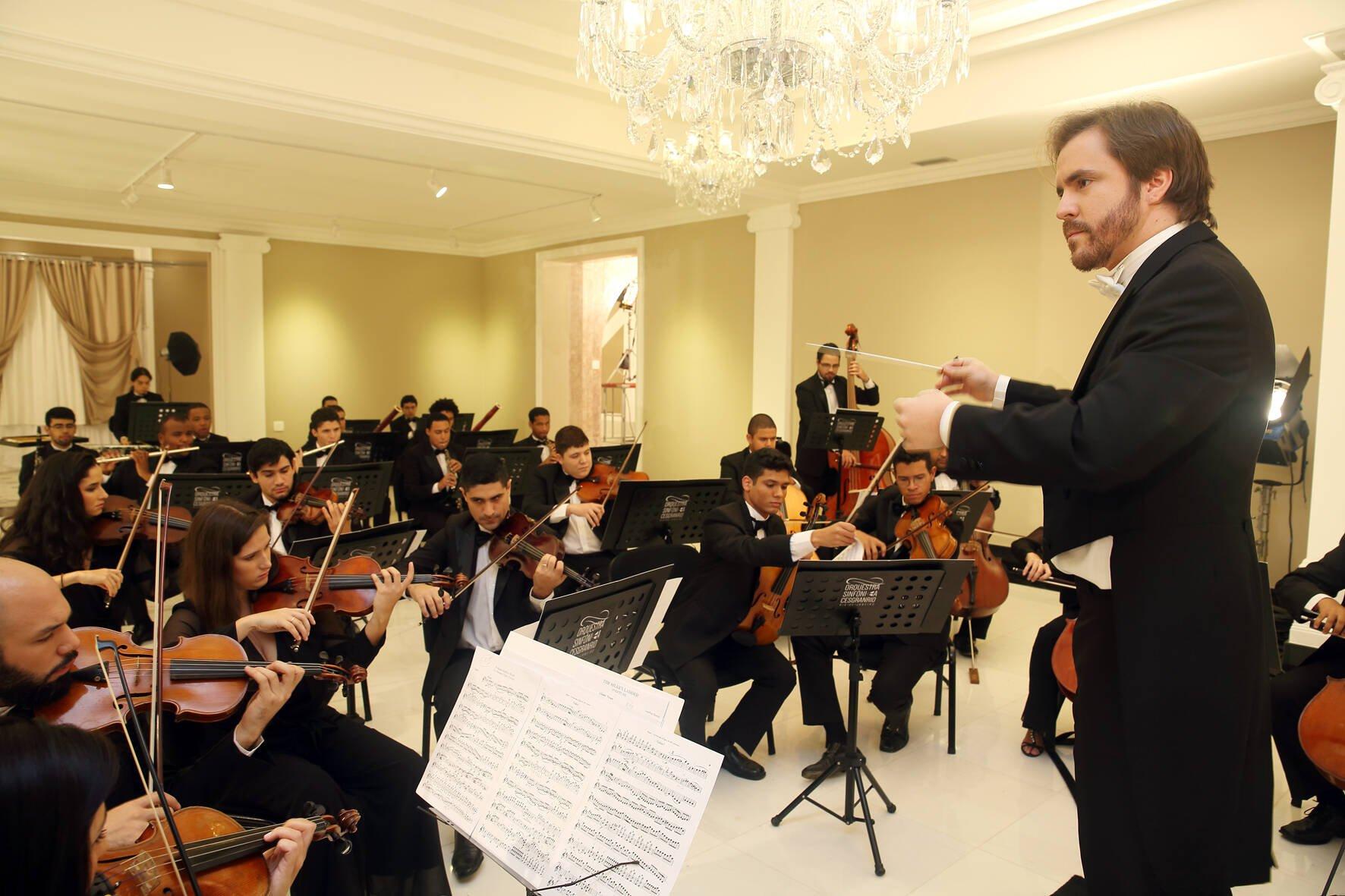 A Orquestra Sinfonica da Fundação Cesgranrio, que vai se apresentar para convidados nesta terça-feira (30/06) / Foto: