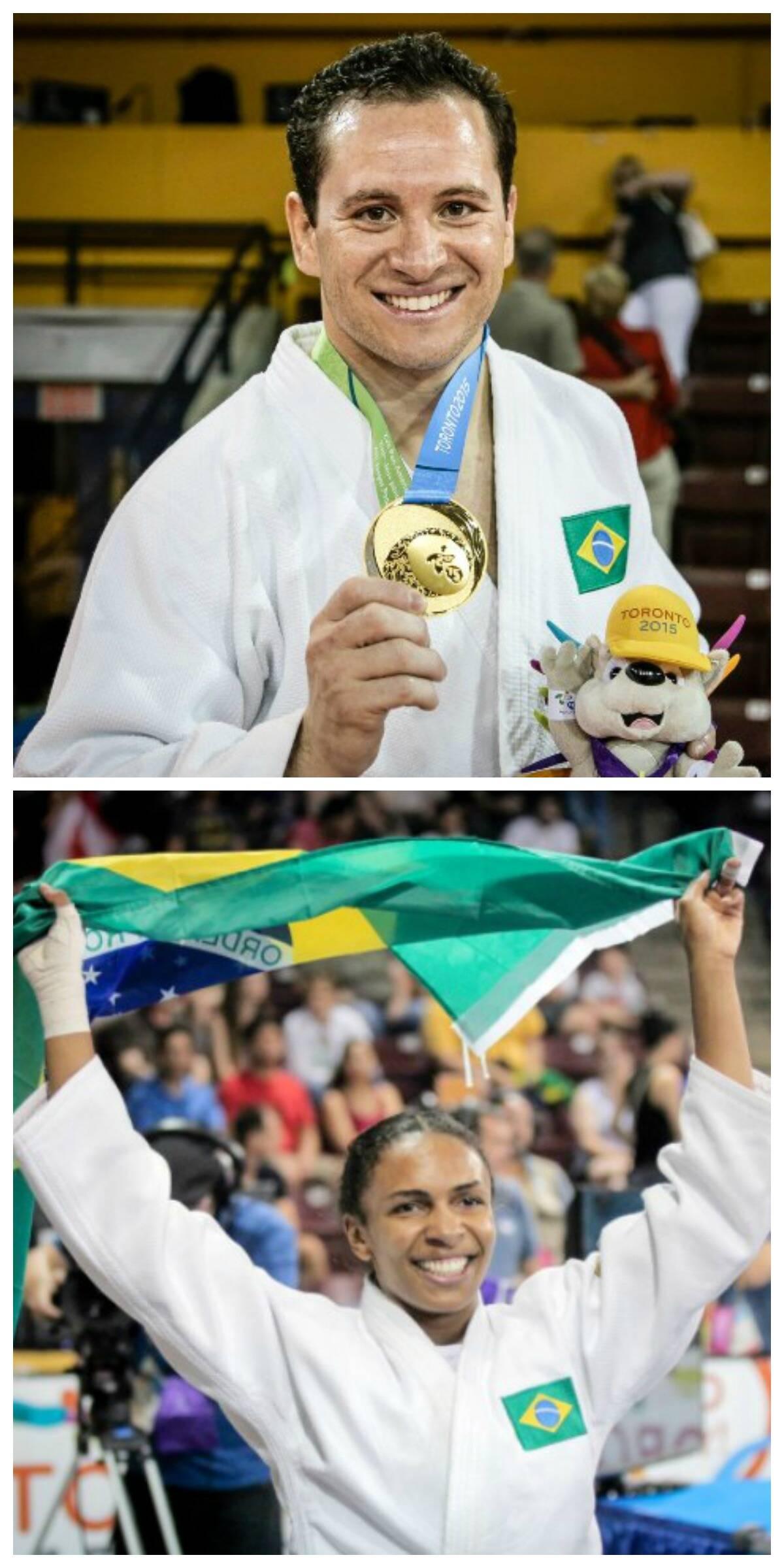 Os judocas Tiago Camilo e Erika Miranda: respectivamente sargentos do Exército e da Marinha/ Foto: divulgação