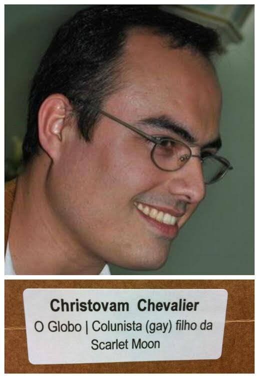 """Christovam de Chevalier: jornalista recebe correspondência  com a seguinte inscrição: """"Christovam Chevalier, colunista (gay), filho da Scarlet Moon."""""""