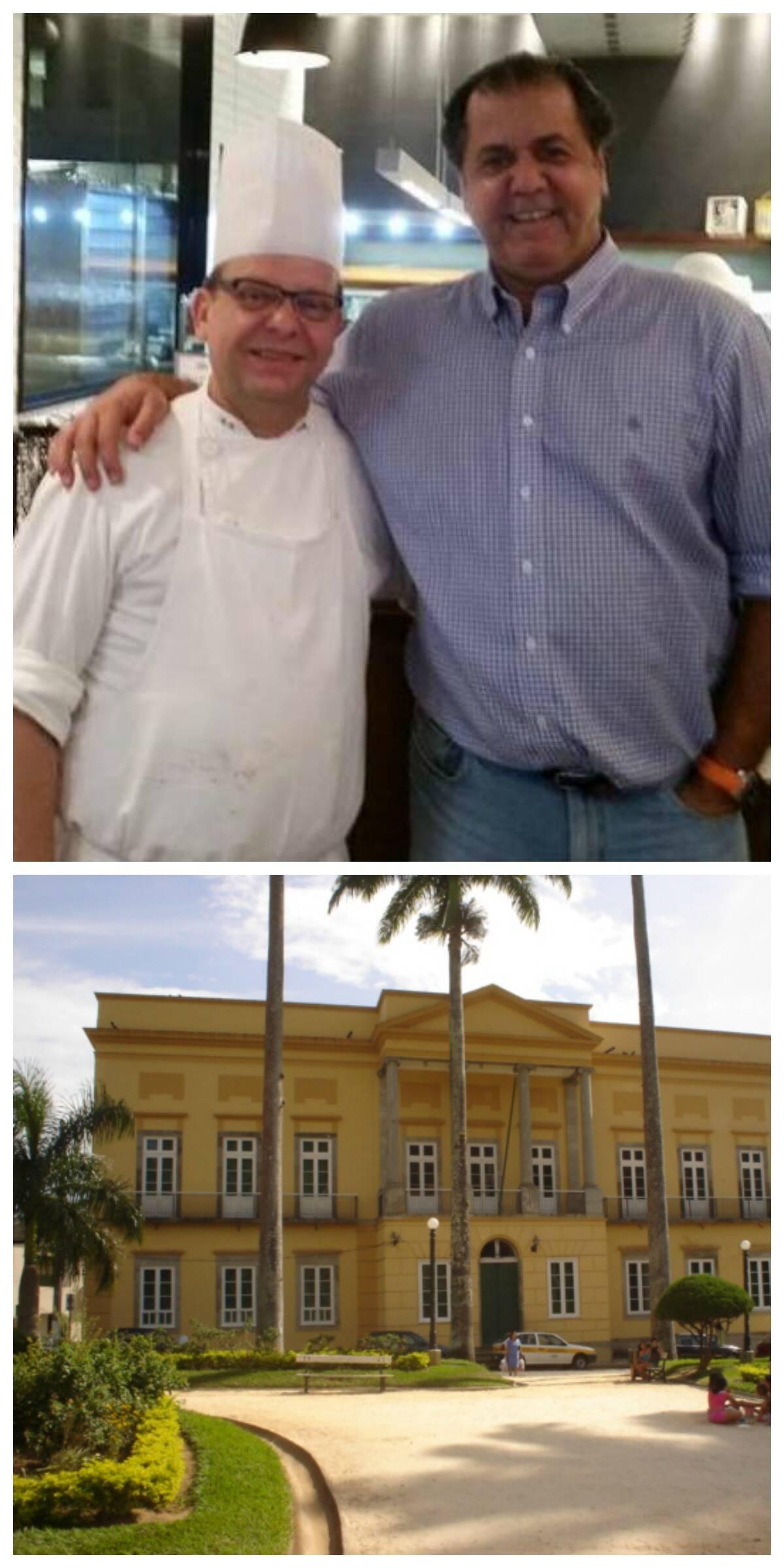 A dupla Guérin e Catito, no alto, e a Câmara de Vereadores de Vassouras/ Fotos: divulgação