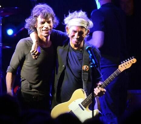 Mick Jagger e Keith Richards: exposição sobre a vida da banda não vem ao Rio? Que absurdo....Foto: IG