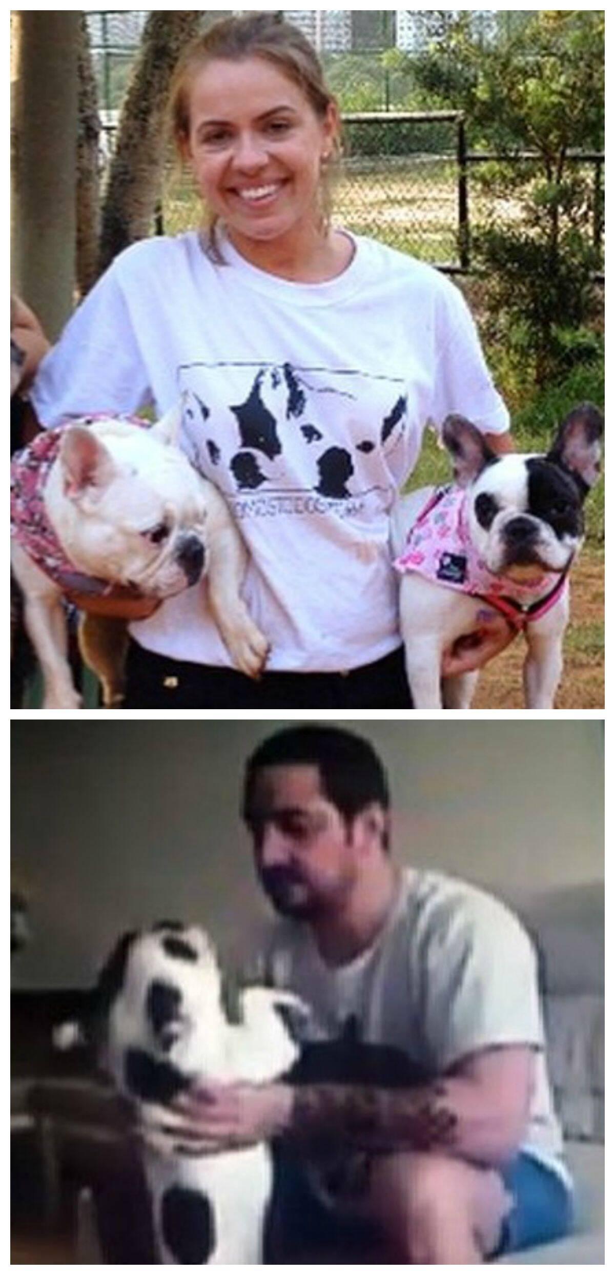"""A produtora Ninna Mandim e suas """"meninas""""; acima, o empresário Rafael  Hermida, preso nesta quinta-feira (23/07)"""