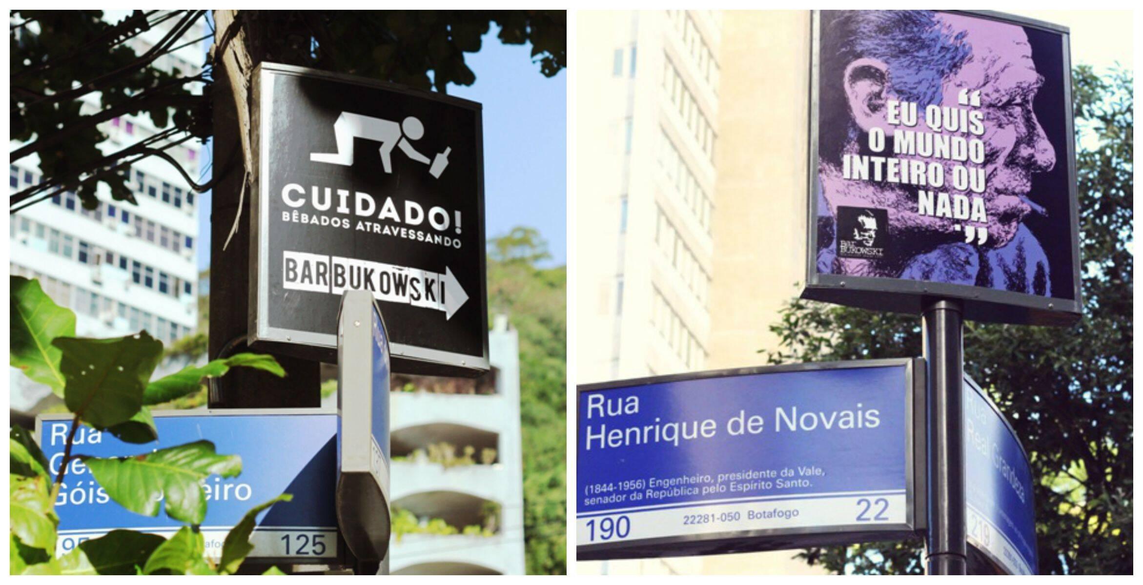 As placas ficam em esquinas próximas à rua Álvaro Ramos, em Botafogo/ Foto: divulgação