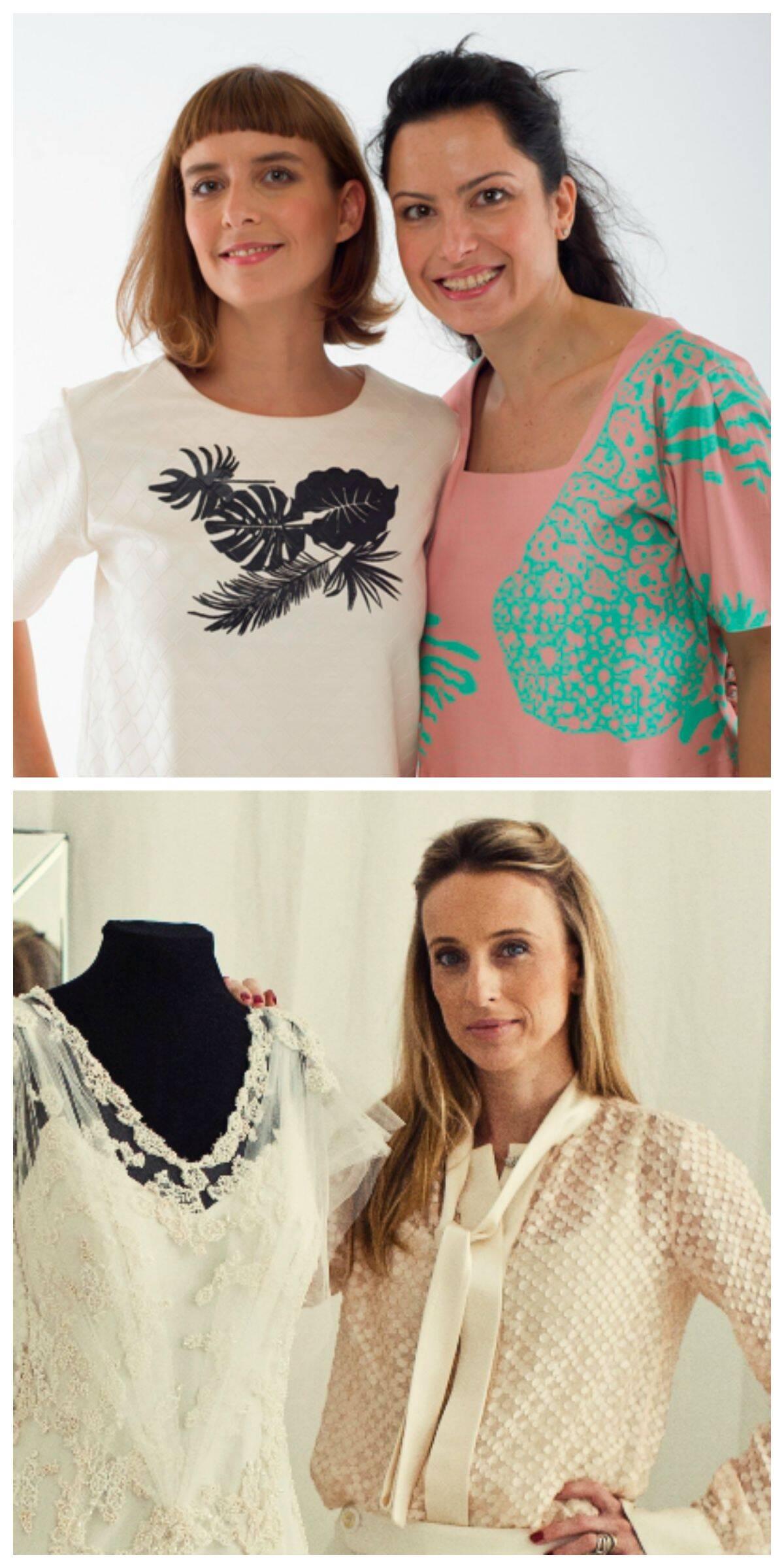 No alto, Ana Wambier e Daniela Sabbag; acima, Mariana Kuenerz. Elas foram as primeiras estilistas selecionadas pelo Fashion Mall/ Foto: divulgação