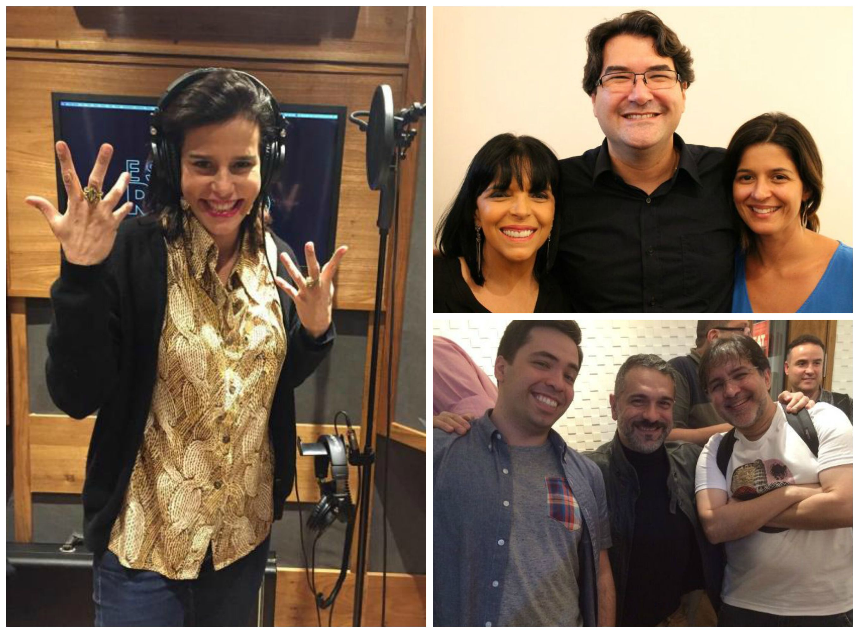 Em sentido horário, Narcisa Tamborindeguy; Ecila Antunes, o DJ Taw e Carolina Antunes; Danny Dee e os DJs Meme e Nino Carlo/ Fotos: divulgação