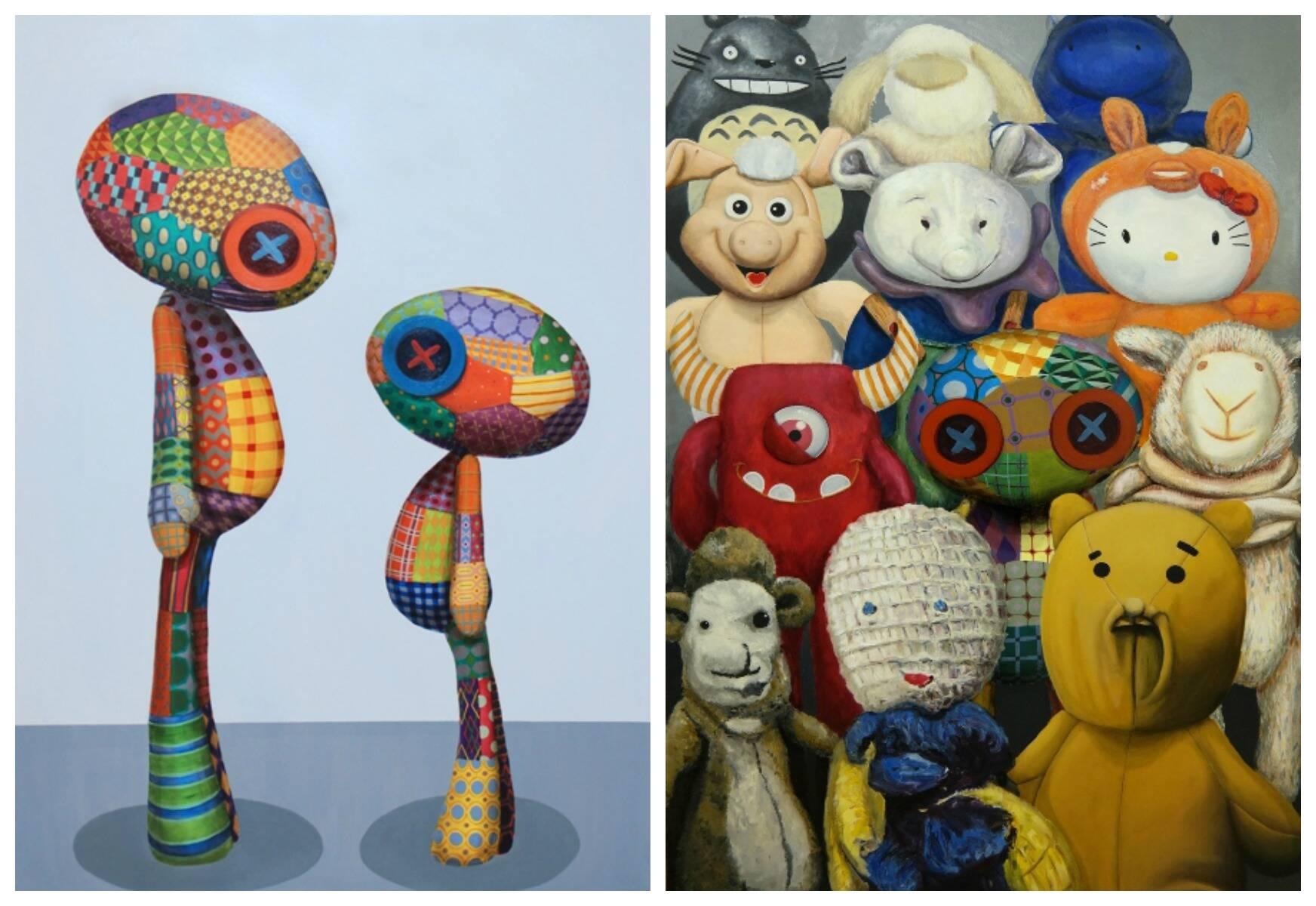 Bonecos da exposição inédita de Tinho, que também vai apresentar telas/ Fotos: divulgação