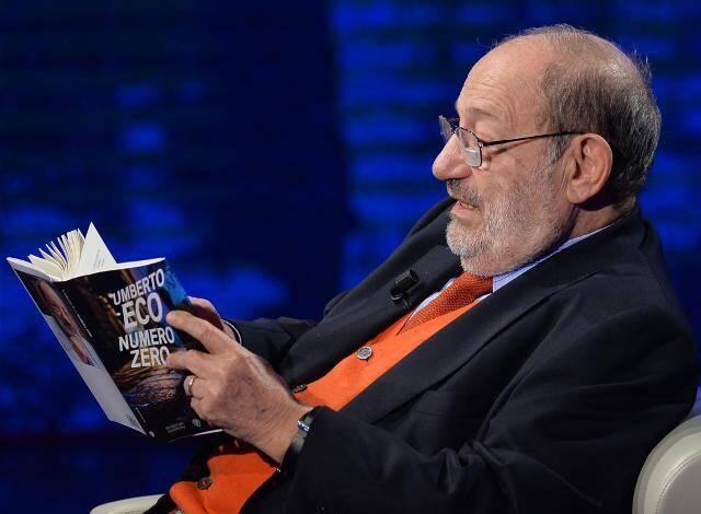 """Umberto Eco e seu livro """"Número Zero"""": autógrafos para os leitores brasileiros/ Foto: divulgação"""