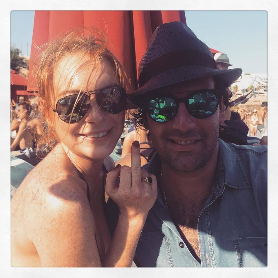 Alexandre Furmanovich  e Lindsay Lohan: mais um encontro do joalheiro paulista com a atriz no mar de Myconos