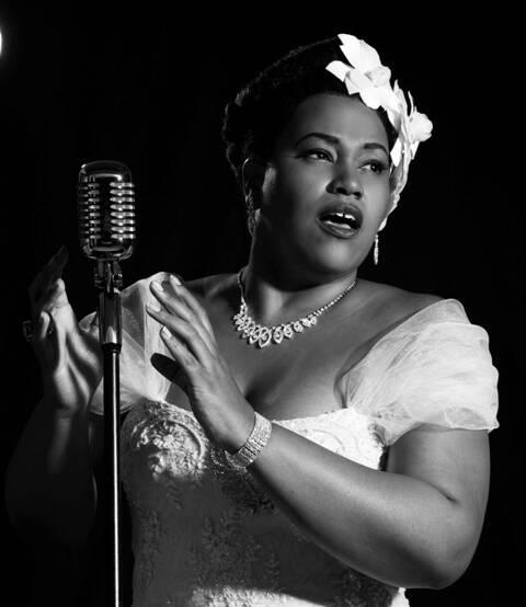Lilian já devidamente incorporada no personagem Billie Holiday: a estreia é na próxima semana/ Foto: Andrea Rocha
