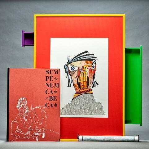 O objeto de arte com caixa de acrílico: segundo especialistas, protege mais que o vidro/ Foto: divulgação