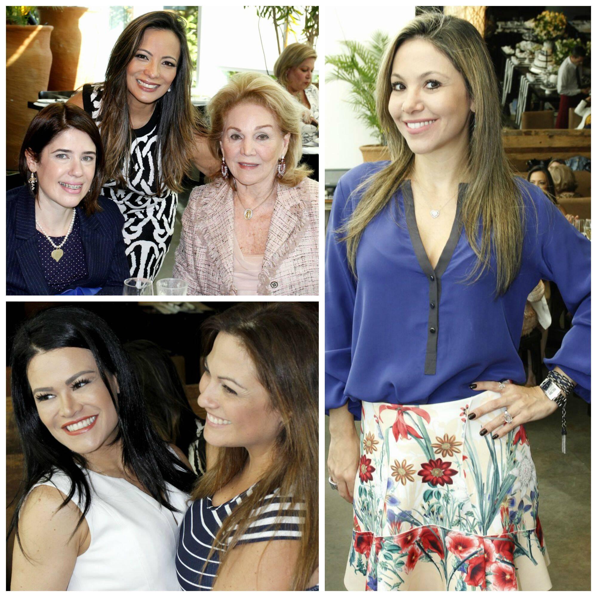 No sentido horário: Marcia Romão, Daniela Saade e Idinha Seabra; Alessandra Amaral; -Rosa Leal e Bianca Boise / Fotos: Vera Donato