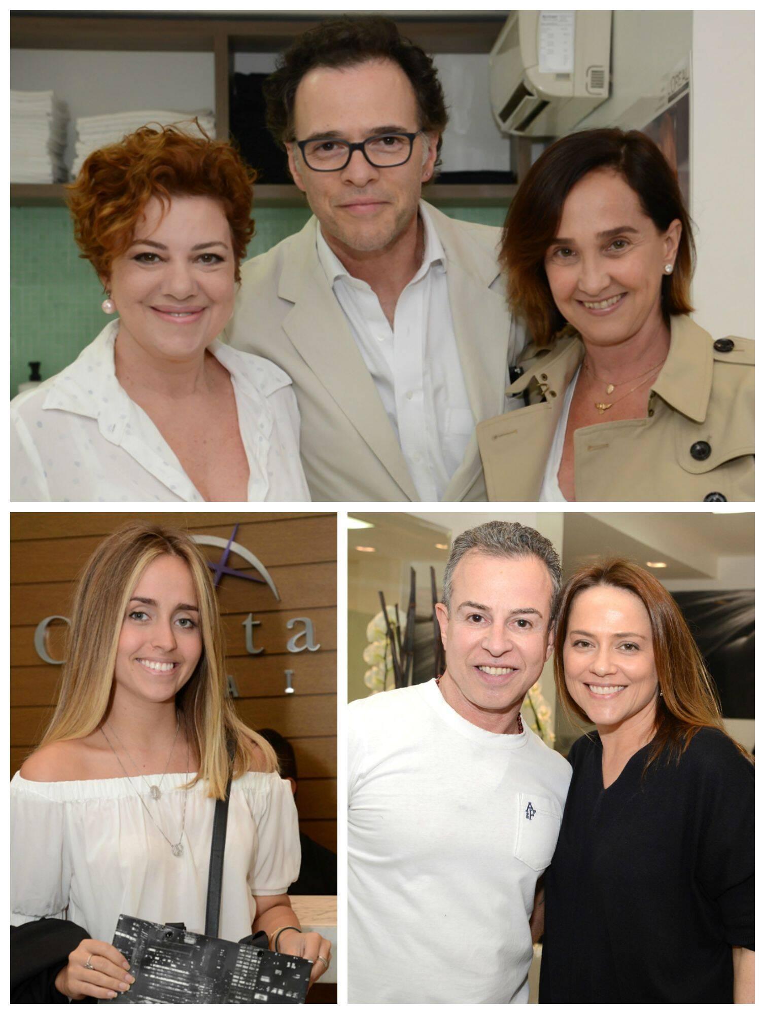 No sentido horário: Branca Di Lorenzo, Cesar Neubert e Bebel Niemeyer; João Bosco e Viviane Pasmanter; Luisa Schroder / Fotos: