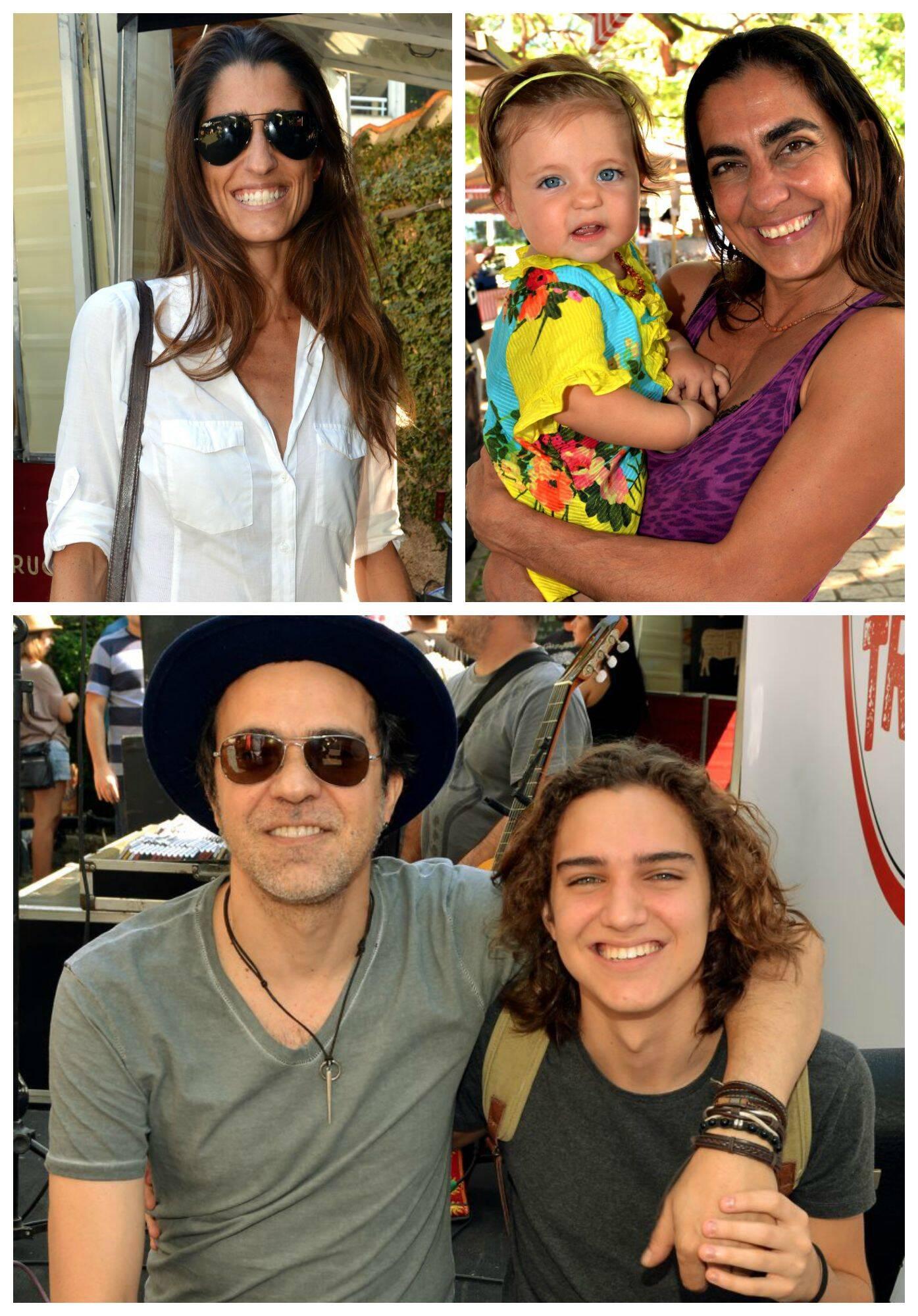 No sentido horário: Cynthia Howlett; Carol Machado; Moska e seu filho Tom Karaba / Fotos: Cristina Granato