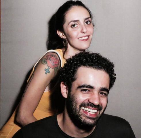 Carol Monte e seu afilhado musical, o carioca de Padre Miguel Vidal / Foto: divulgação