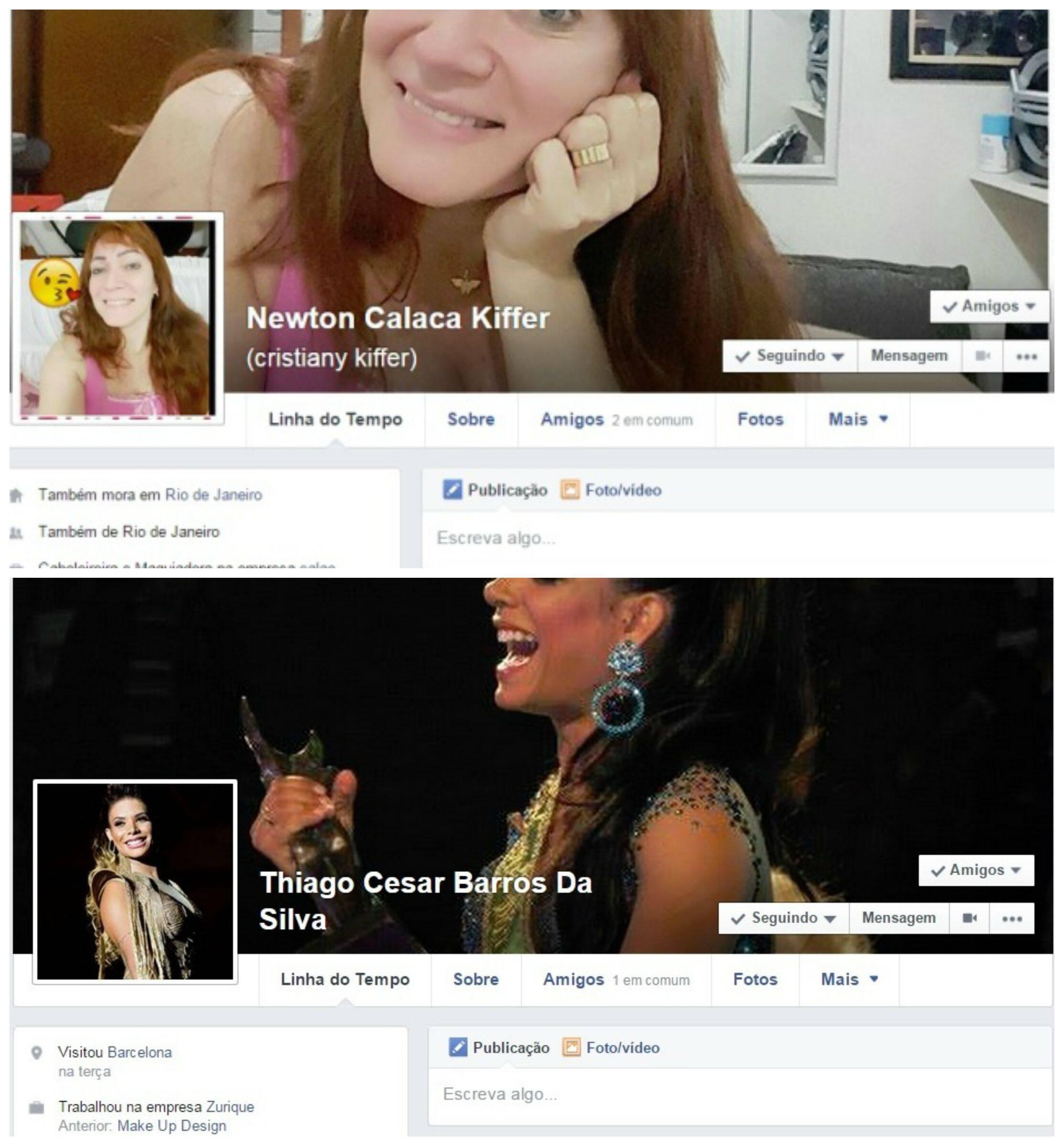 Cristiany e Carol: as duas transexuais tiveram seus nomes sociais alterados para o masculino nos seus perfis no Facebook / Foto: reprodução do Facebook