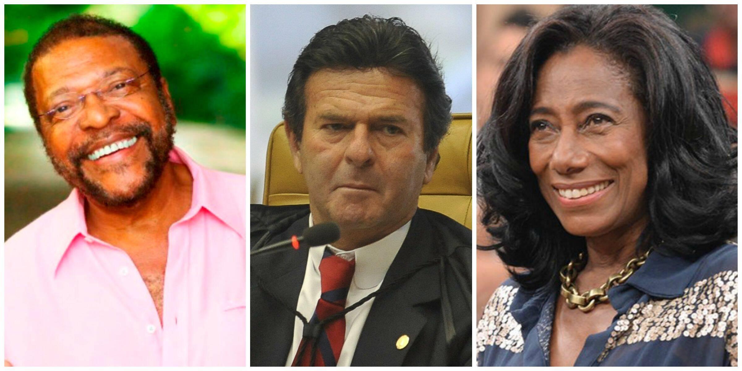 Martinho da Vila, o premiado da edição 2015 do Troféu Raça Negra, já recebido pelo ministro Luiz Fux e pela jornalista Gloria Maria / Fotos: reprodução da internet