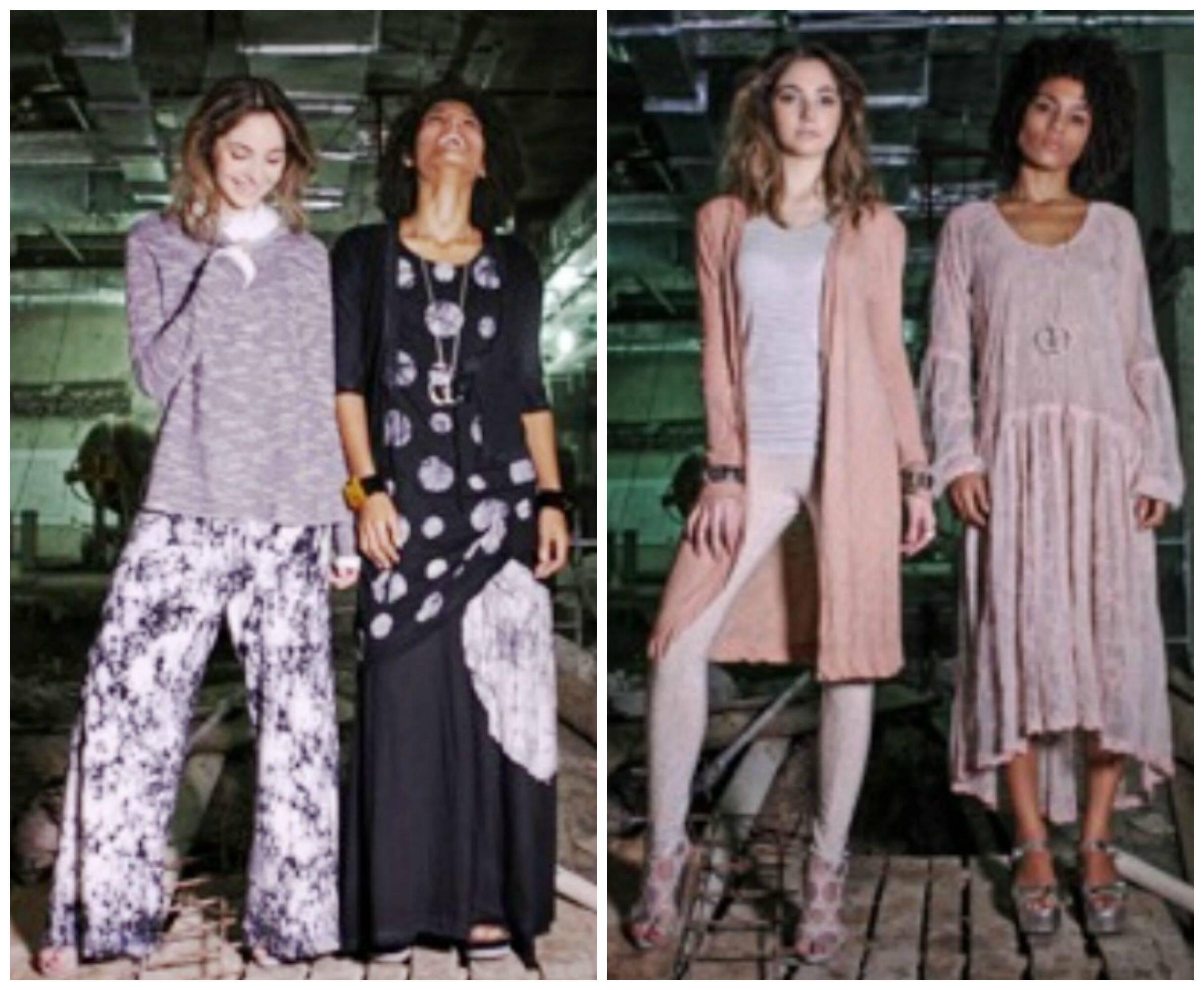 No alto, as sócias Toia Lemann e  Toia Fernanda Elisa; nesta foto, alguns modelos criados por elas / Fotos: divulgação