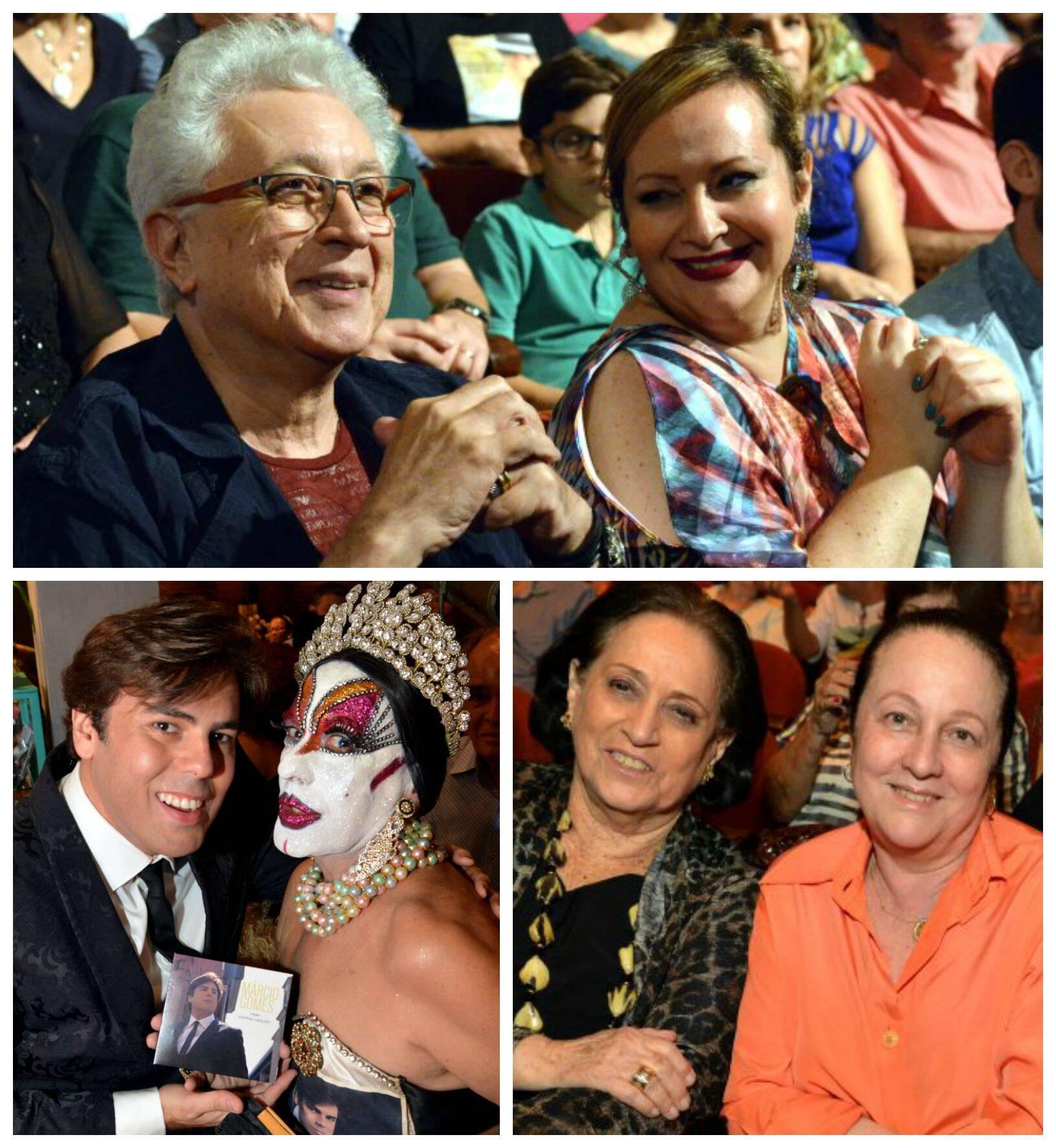 No sentido horário: Aguinaldo Silva e Gotcha; Belita Tamoyo e Beth Serpa; Marcio Gomes e Isabelita dos Patins / Fotos: Cristina Granato