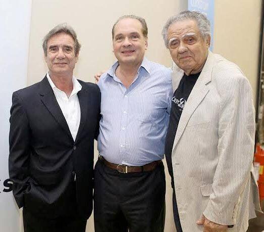 Norman Baines, Luiz Severiano Ribeiro e Luiz Carlos Barreto: inauguração da Starbucks® no Cine Odeon / Foto: Murillo Tinoco