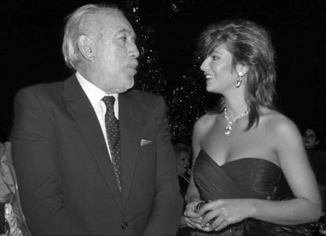 Anthony Quinn e Luiza Brunet