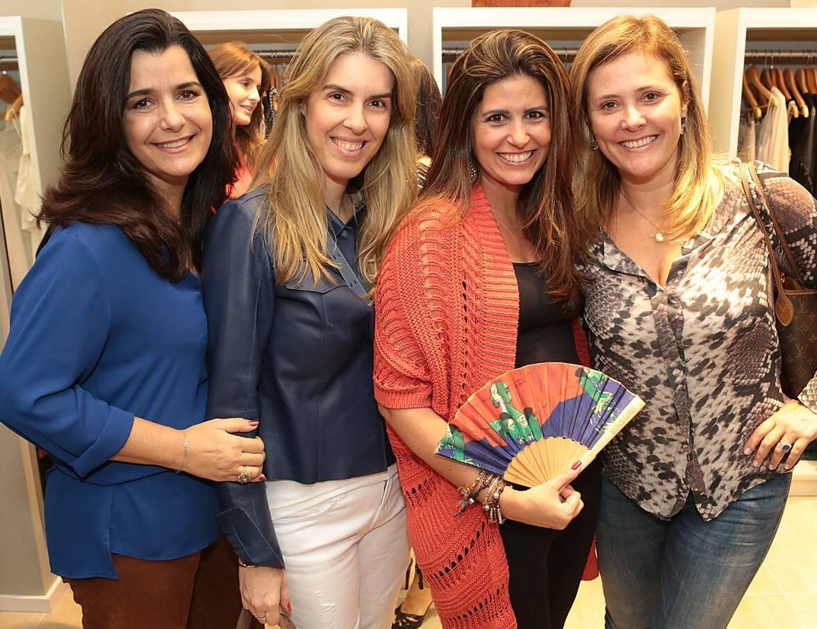 Acima, Claudia Garson, Andrea Zagury, Fernanda Chies e Alessandra Curvelo; e, nesta foto, Maria Paula Carvalho, Renata Velloso,Luciana Polastri e Andrea Tupinamba / Fotos:
