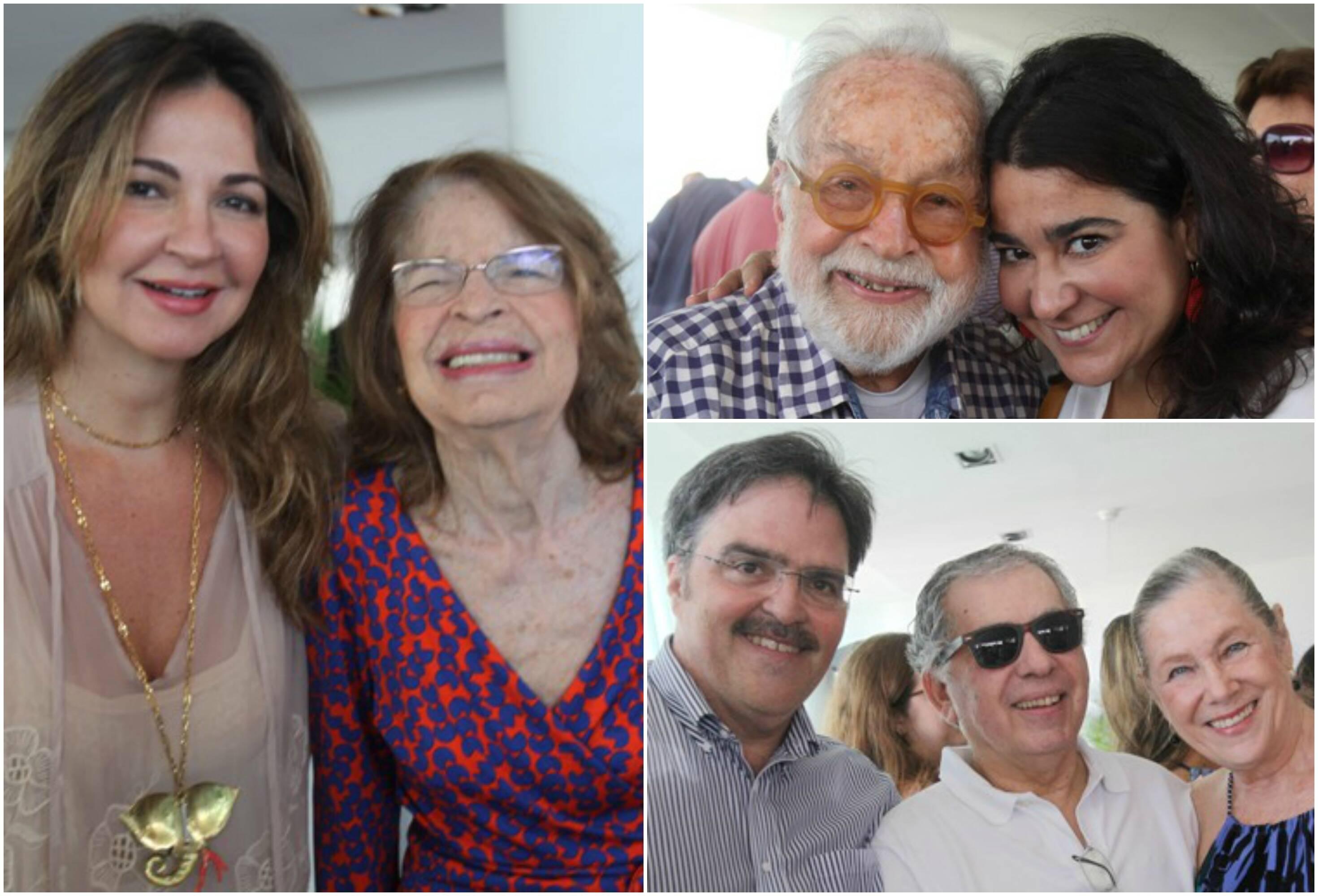 Em sentido horário, Eliza e Rizza Conde; Jorge Hue e Luciana Conde; Marcelo Conde,   Sergio Magalhães e Ana Petrick / Fotos: Eny Miranda