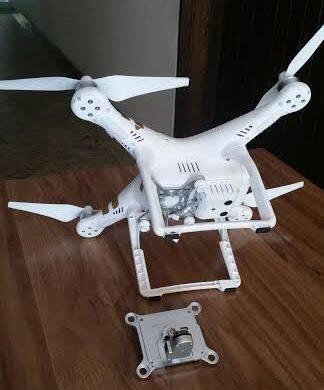 Drone em Ipanema: veículo cai na Rua Paul Redfern, fazendo um barulhão