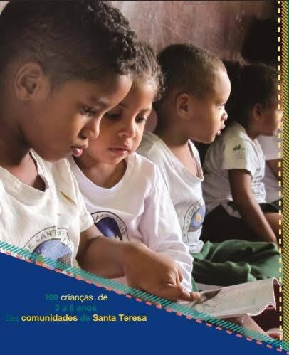 """Crianças do Instituto Marquês de Salamanca: acmpanha para doação de livros para a """"Pré-escola Cantinho Feliz"""" / Foto: divulgação"""