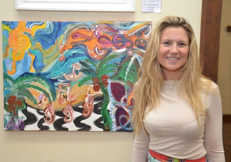 """Marie Mercier: A artista inaugura sua primeira individual """"As Cores de Marie"""", com 15 quadros, na próxima terça-feira (27/10), no Riso Bistrô, em Ipanema"""