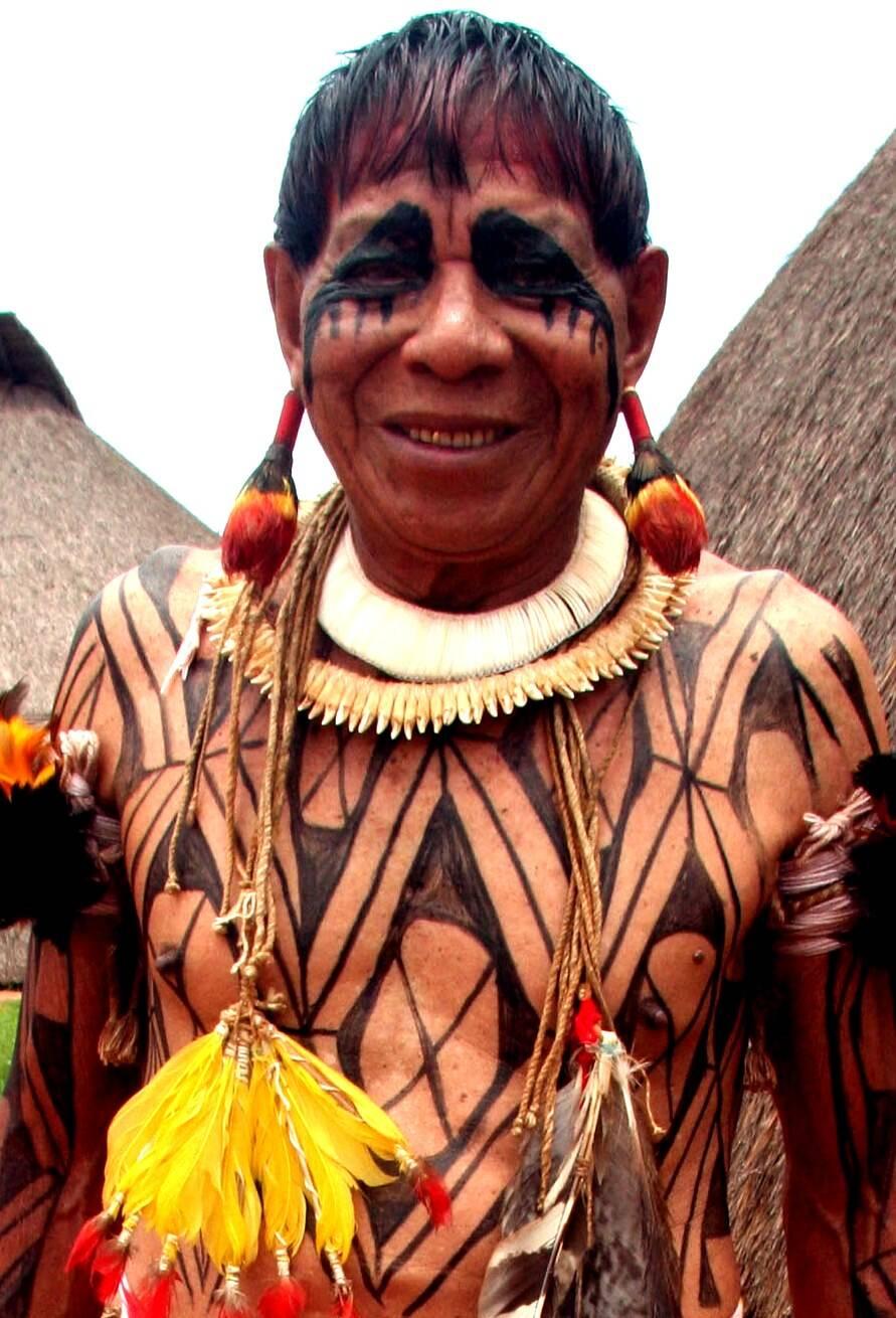 """O nome Sapaim, que significa """"índio pequeno"""", foi dado ao pajé dos Kamayurá pelo sertanista Orlando Villas Boas. Seu nome verdadeiro é Yanomaká Kumã, que quer dizer """"grande onça"""" / Foto: divulgação"""