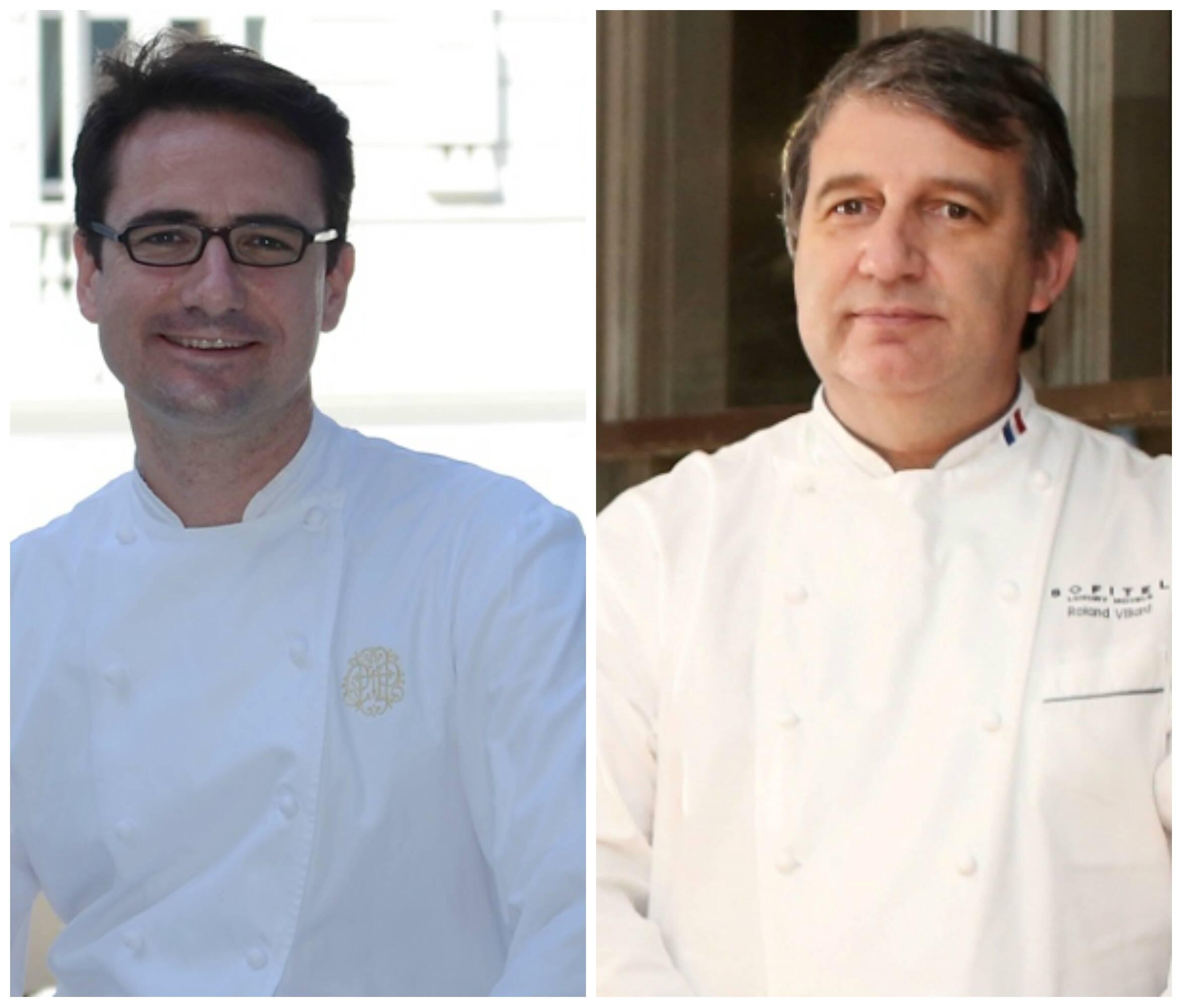 Pierre-Olivier Petit, do Copacabana Palace, e Roland Villard, do Le Pré-Catelan: eles vão comandar um jantar feito por 16 jovens chefs / Fotos: divulgação
