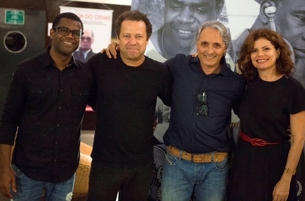 Pretinho da Serrinha, Vik Muniz, Jefferson Mello e Débora Bloch / Foto: Vinicius Pereira