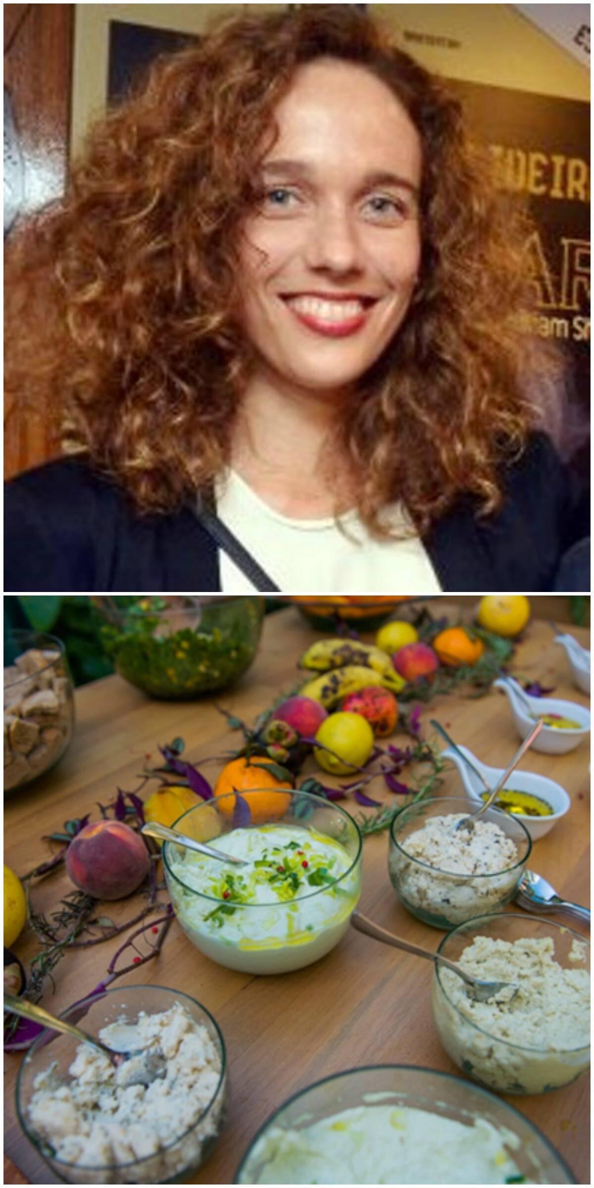 Mana Bernardes, no alto, e alguns dos pratos que estão no menu do coquetel do lançamento de sua nova linha de objetos e móveis / Fotos: Cristina Granato e divulgação