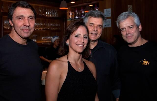 Nelson Sendas, Renata, Guilherme Rezende e Jorge Eduardo Gouvêa Vieira (banda Skeltres)
