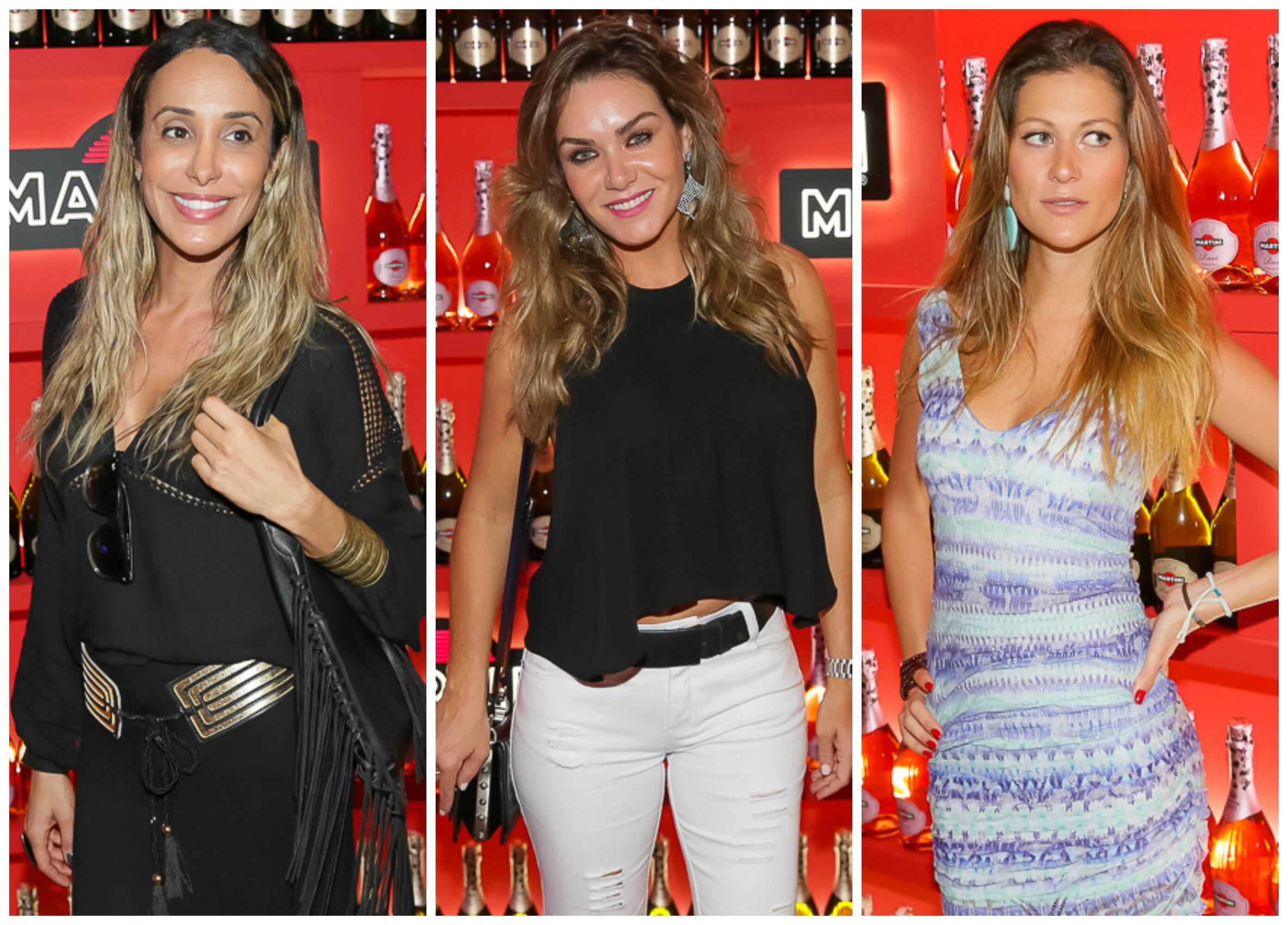 Da esquerda para direita, a modelo trans Carol Marra; a designer Luise Altenhofen; a apresentadora Pietra Bertolazzi / Fotos: Divulgação