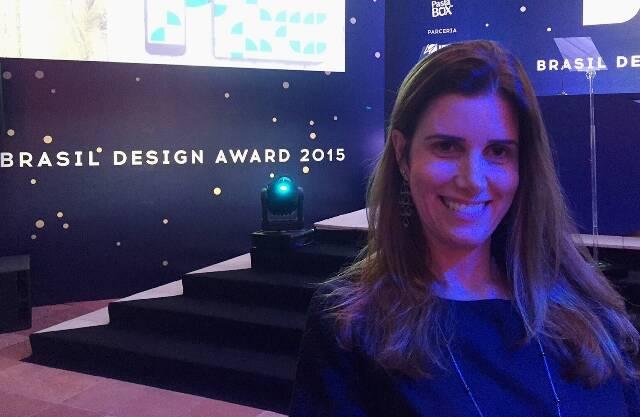 A designer Alessandra Schiper na premiação dessa segunda, em São Paulo / Foto: divulgação