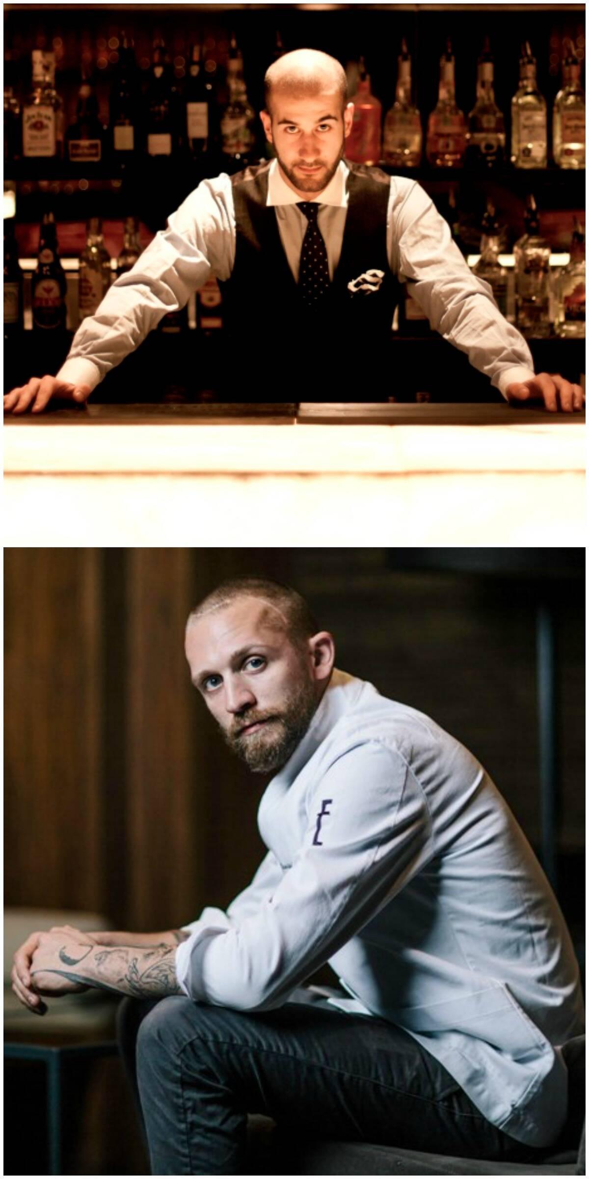 Fabio de la Pietra, no alto, e Schneider, acima: o duelo é o primeiro de uma série programada para o Astor / Fotos: divulgação