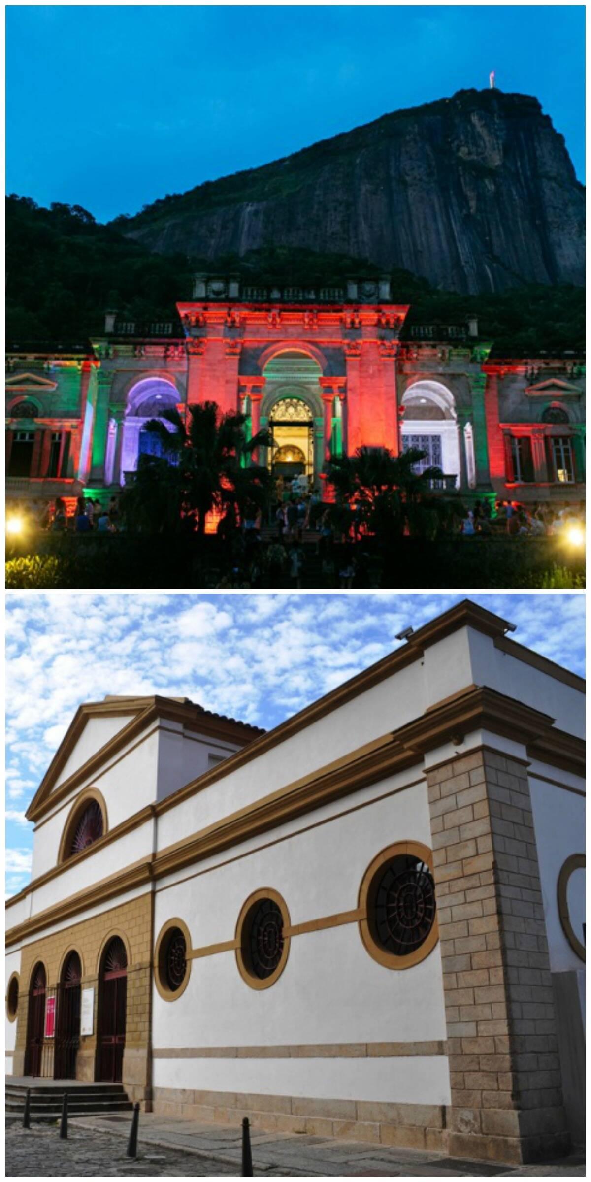 O Parque Lage, no Jardim Botânico, no alto, e a Casa França-Brasil, acima: funcionários receberam aviso prévio nesta quarta-feira