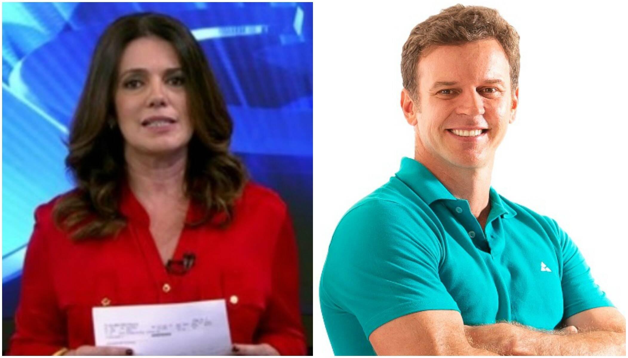 Mara Luquet, especialista em economia da Globonews e do Jornal da Globo, e Eduardo Moreira / Fotos: reprodução da internet e divulgação