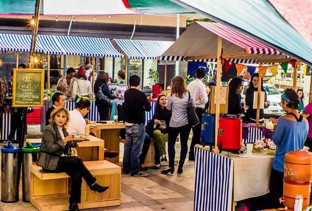 A Praça Itália: imagem é de evento já promovido pelo consulado da Itália / Fotos: divulgação